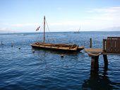 Sailboat Dock On Lake
