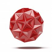 Abstract red geosphere