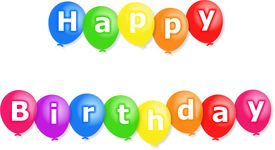 stock photo of happy birthday  - Colourful party balloons with the words HAPPY BIRTHDAY written on them - JPG