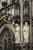 Statues at the gothic Cathedral of Aachen