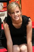 Emma Watson at the Hand, Foot and Wand Print Ceremony Honoring The Cast of
