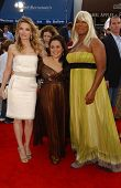 Michelle Pfeiffer with Nikki Blonsky and Queen Latifah at the Los Angeles premiere of