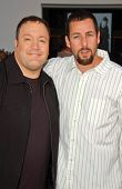 Kevin James and Adam Sandler at the World Premiere of