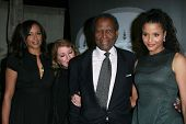 Sidney Poitier and family at the Giorgio Armani Prive Show to celebrate the Oscars. Green Acres, Los Angeles, CA. 02-24-07