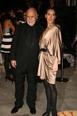 Rene Angelil and Celine Dion at the 2007 Vanity Fair Oscar Party. Mortons, West Hollywood, CA. 02-25