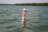 Fish habitat keep out environmental warning
