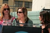 Debbie Peterson with Vicki Peterson and Suzanna Hoffs at the Hollywood Walk of Fame Ceremony Honorin