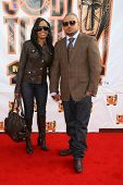 Chris Stokes and wife arriving at the 21st Annual Soul Train Music Awards. Pasadena Civic Auditorium, Pasadena, CA. 03-10-07