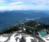 View from Mt Whistler, Canada