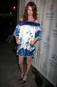 Lydia Hearst at day one of the 2007 Mercedes-Benz Fashion Week Fall Collection. Smashbox Studios, Cu