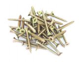 Lot Of Self-tapping Screws Isolated