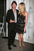 Jerry O'Connell and Rebecca Romijn at day one of the 2007 Mercedes-Benz Fashion Week Fall Collection
