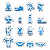 Dental icon (sticker) set (dentist tools)