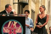 Tony Plana with Mark Indelicato and Vanessa Williams at the award ceremony honoring Vanessa Williams with a star on the Hollywood Walk of Fame. Hollywood Blvd., Hollywood, CA. 03-19-07