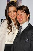 Katie Holmes and Tom Cruise at Mentor LA's Promise Gala. Twentieth Century Fox Studios, Los Angeles,