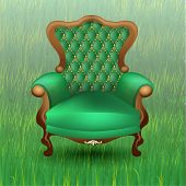 Chair On The Grass