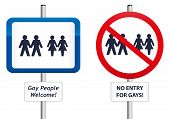 picture of no entry  - Two signs - JPG