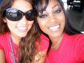 Amber Campisi and Qiana Chase at the Inaugural XM Satellite Radio Speedjam, Homestead-Miami Speedway