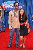 Harold Perrineau and daughter Aurora at the World Premiere of
