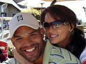 Amaury Nolasco and Karen McDougal at the 7th Annual Playboy Golf Scramble Championship Finals. Lost