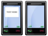 leere schwarz Mobile Handy-Displays