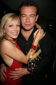 Lev Shvarts and Courtney Peldon at Courtney and Ashley Peldon's birthday party, Area, West Hollywood, CA 03-31-07