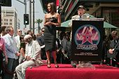 Samuel Jackson with Halle Berry and Johnny Grant at the ceremony honoring Halle Berry with the 2,333