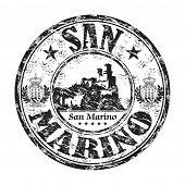 San Marino grunge rubber stamp