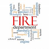 Fire Department Word Cloud Concept