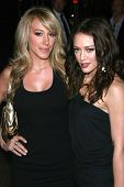 Haylie Duff and Hilary Duff at the premiere of