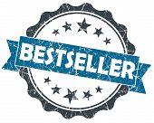 Bestseller Blue Grunge Vintage Seal Isolated On White
