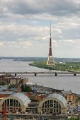 An Aerial View To Riga, Capital Of Latvia