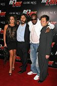 Nadia Bjorlin and Daniel Sadek with Wyclef Jean and Andy Cheng at the Los Angeles Premiere of