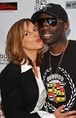 Maggie Wagner and Sam Sarpong at a Fashion and Music Extravaganza Promoting Human Rights for Youth.