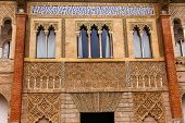 Mosaics And Windows Peter Of Castle's Palace Alcazar Royal Palace Sevilleandalusia  Spain