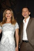 Kyra Sedgwick and Jon Cryer at the 59th Primetime Emmy Awards Nominations Announcements. Leonard Gol