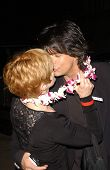 Frances Fisher and friend at