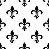 Seamless fleur-de-lys wallpaper