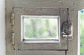 Old Rural Ventlight Window Frame. Abstract Backgrounds