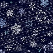 Dark blue winter background