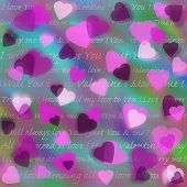 Abstract  Background for Valentine