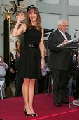 Hilary Swank and Johnny Grant at the ceremony honoring Hilary Swank with the 2,325th star on the Hollywood Walk of Fame. Hollywood Boulevard, Hollywood, CA. 01-08-07