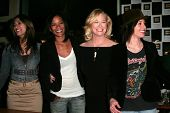 Janina Gavankar and Rose Rollins with Cybill Shepherd and Katherine Moennig at the 4th season kick-o