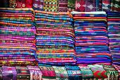 stock photo of yaks  - Tibetan yak wool blankets in the shop of Thamel market in Kathmandu Nepal - JPG