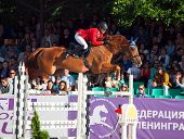 Saint Petersburg-july 05: Rider Alexandr Molotkov On Zanzibar In The Csi3*-w/csiyh1* International J