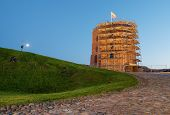 Western tower of Upper Castle in Vilnius (Lithuania)