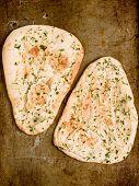 Rustic Indian Garlic And Parsley Naan Bread