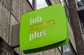 Job Centre sign, London