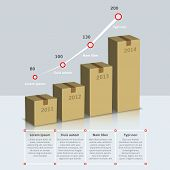 Carton box growth infographic