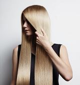 Woman With Ideal Blondy Hair